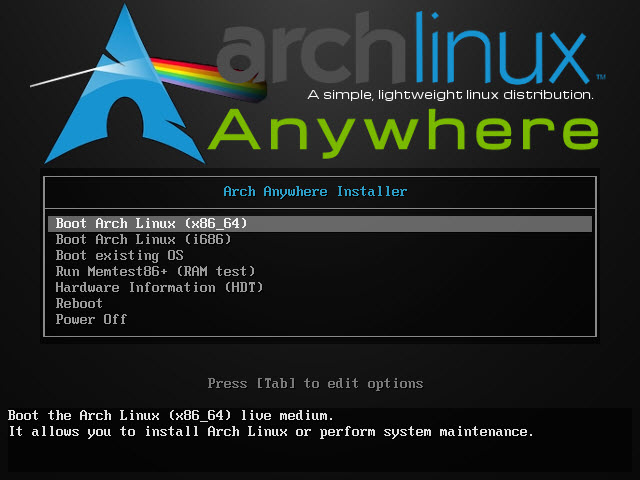 step by step guide to install arch linux