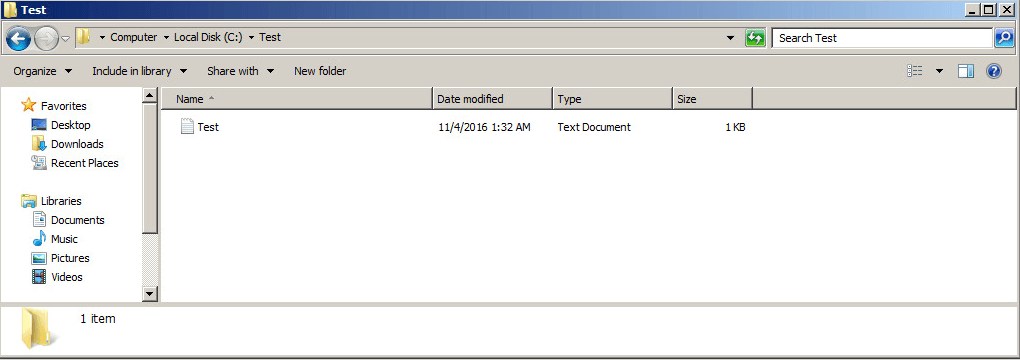 File Recovery - Restore Point 1