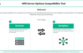 HPE Server Options Compatibility Tool - Main