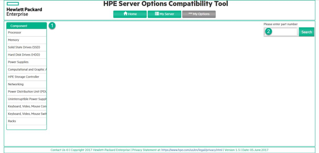 HPE Server Options Compatibility Tool - My Options