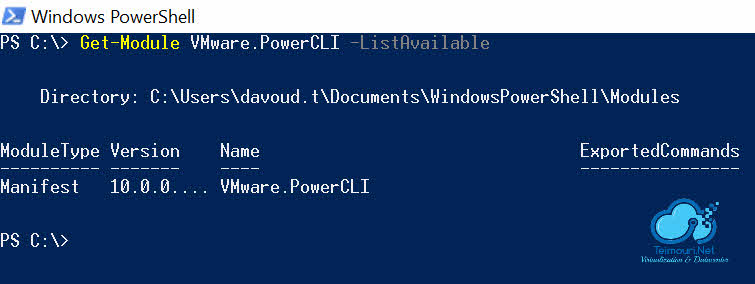 VMware PowerCLI 10 - Verifying