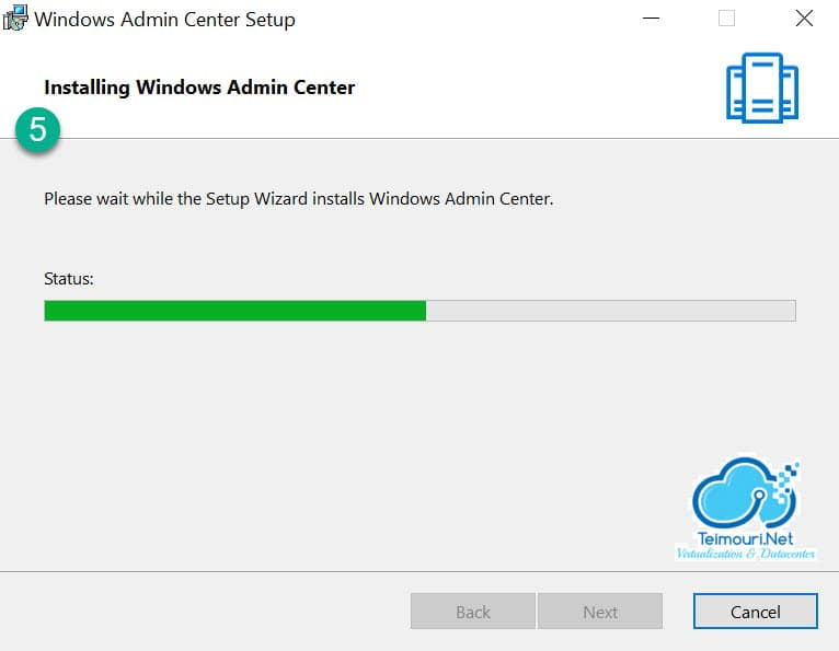 Windows Admin Center - Installation Step 5