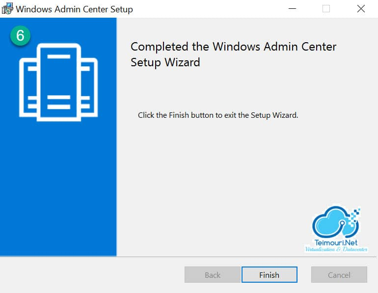 Windows Admin Center - Installation Step 6