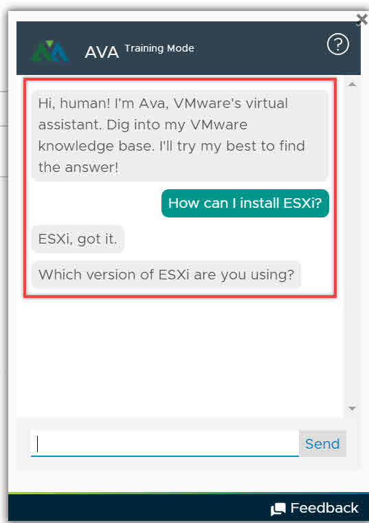 VMware's Automated Virtual Assistant